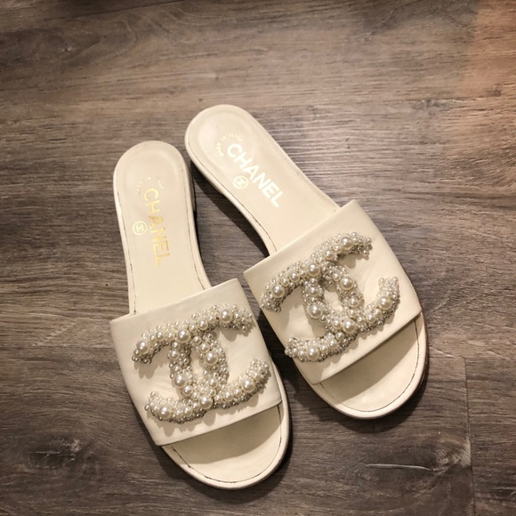 Pearl Chanel Sandals | Poshmark